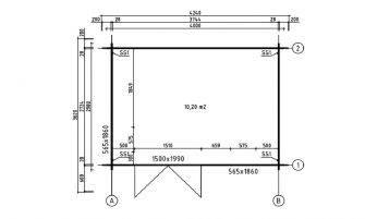Abri Edelweiss 12, madriers 28mm - 10.2m² intérieur