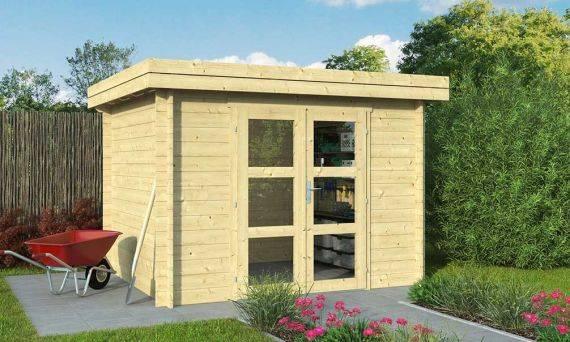 Abri de jardin Lyon 7, madriers 28mm, 6.33m² intérieur