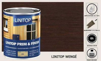 Lasure Linitop Prim&Finish teinte Wenge 5 litres