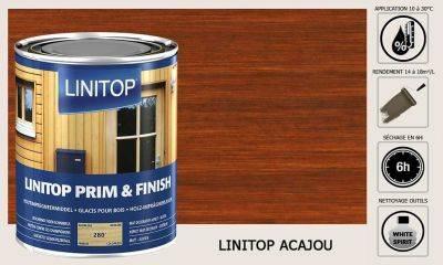 Lasure Linitop Prim&Finish teinte Chêne clair 5 litres