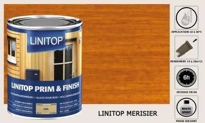 Lasure Linitop Prim&Finish teinte Merisier 5 litres