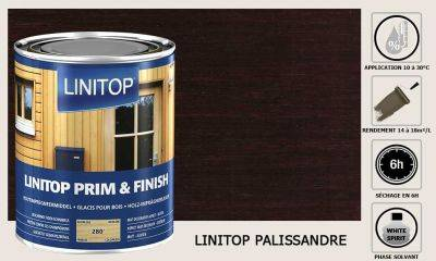 Lasure Linitop Prim&Finish teinte Palissandre 5 litres