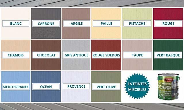 Nuancier Solid Color Stain Owatrol